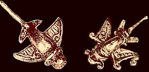 Zoömorphic Chimú pendants